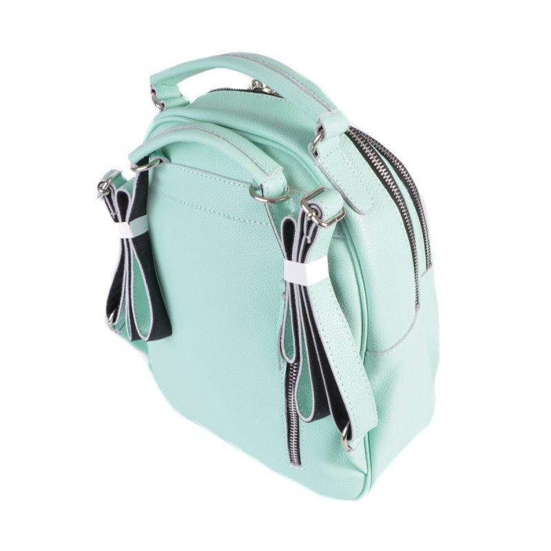 Женский кожаный рюкзак-сумка 2в1 натуральная кожа, сумка на плече - Фото 4