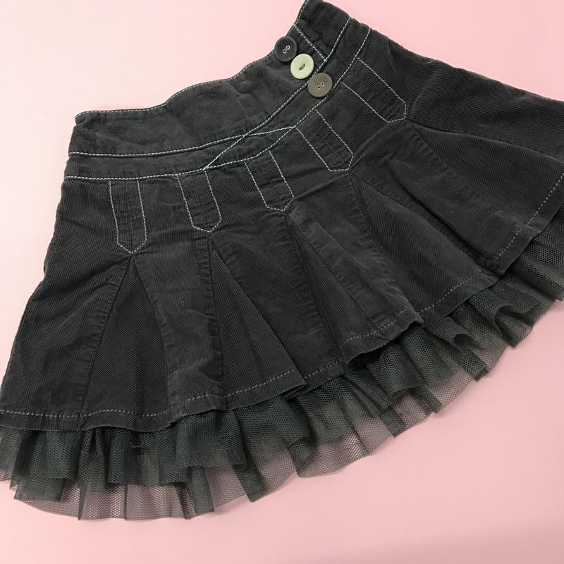 Вельветовая юбка next 9 -12 мес