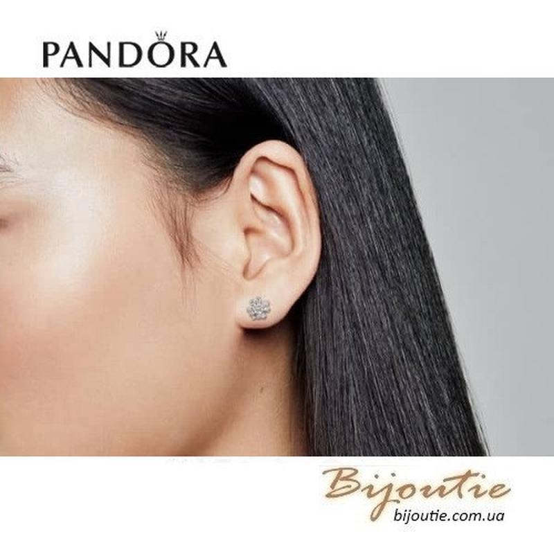 PANDORA серьги ― Сияющий клевер 297944CZ - Фото 2