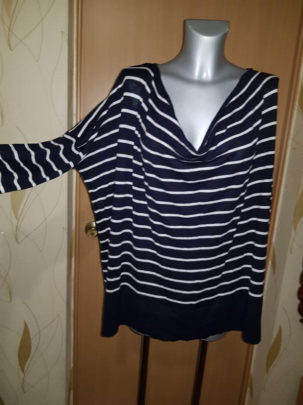 Свободная кофта джемпер свитер в полоску