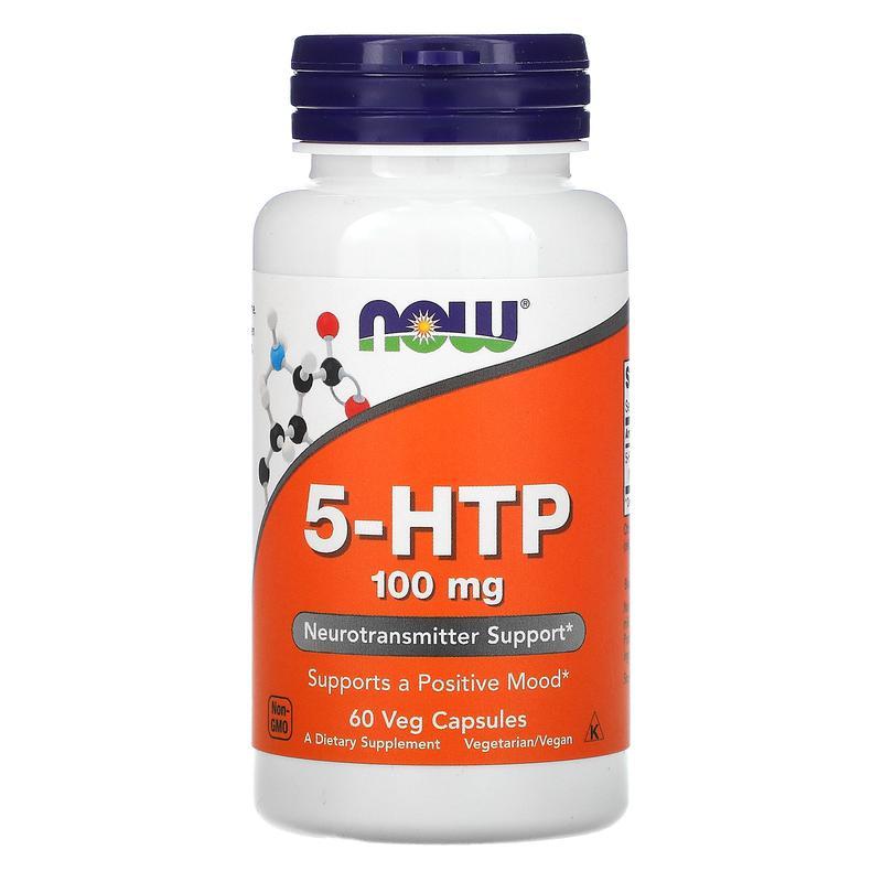 Now Foods, 5-гидрокситриптофан, 100 мг, 60 капс.