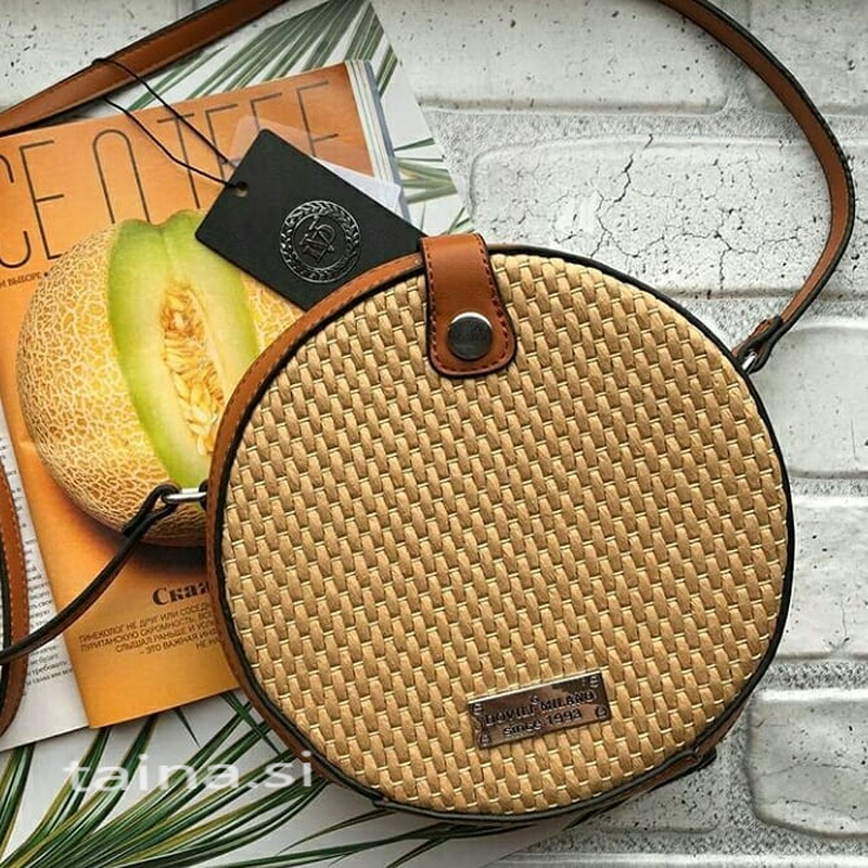 3 цвета! соломенная сумочка плетеный клатч сумка круглая корич...