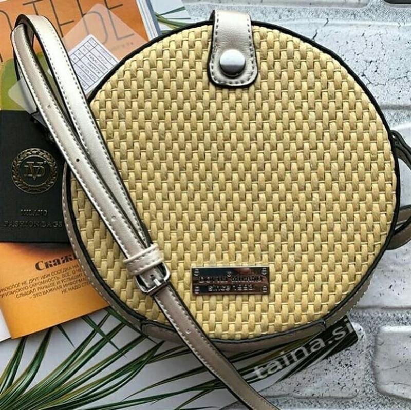 3 цвета! соломенная серебристая сумочка плетеный клатч круглая...