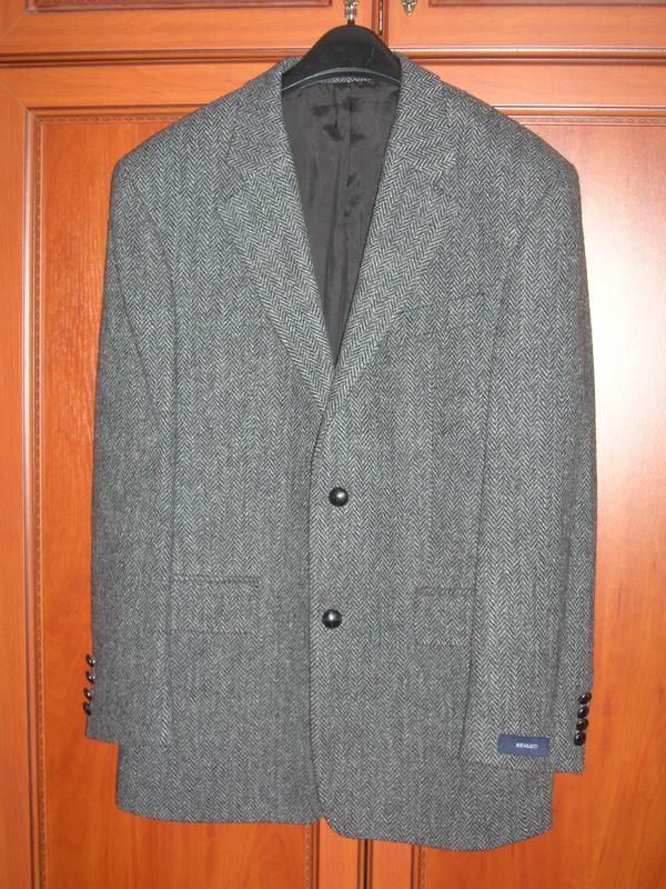 Элитный мужской твидовый пиджак Harris Tweed. Шотландия. Новый