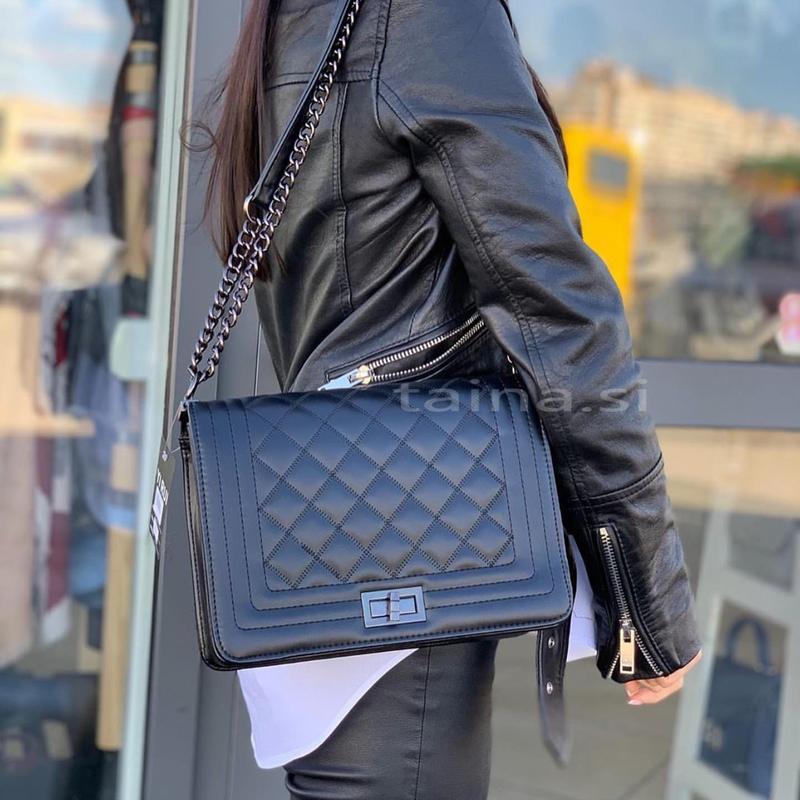 Черный клатч сумка сумочка на цепочке стеганая