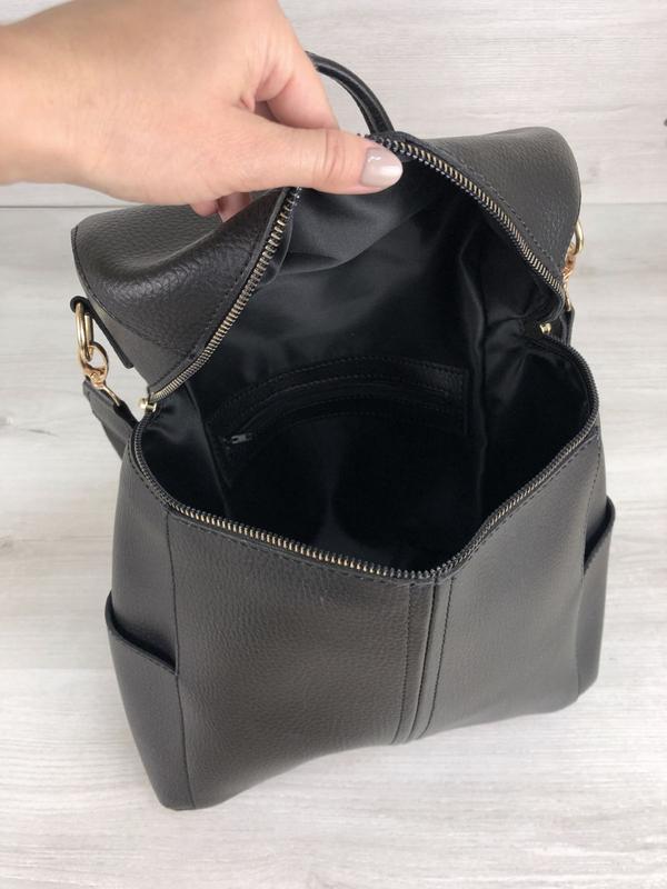 5 цветов! сумка рюкзак черный классический городской а4 в школ... - Фото 4