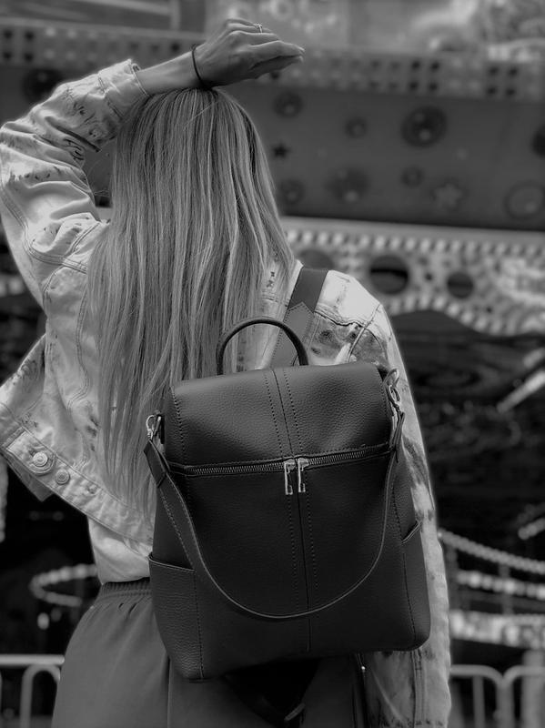 5 цветов! сумка рюкзак черный классический городской а4 в школ... - Фото 5