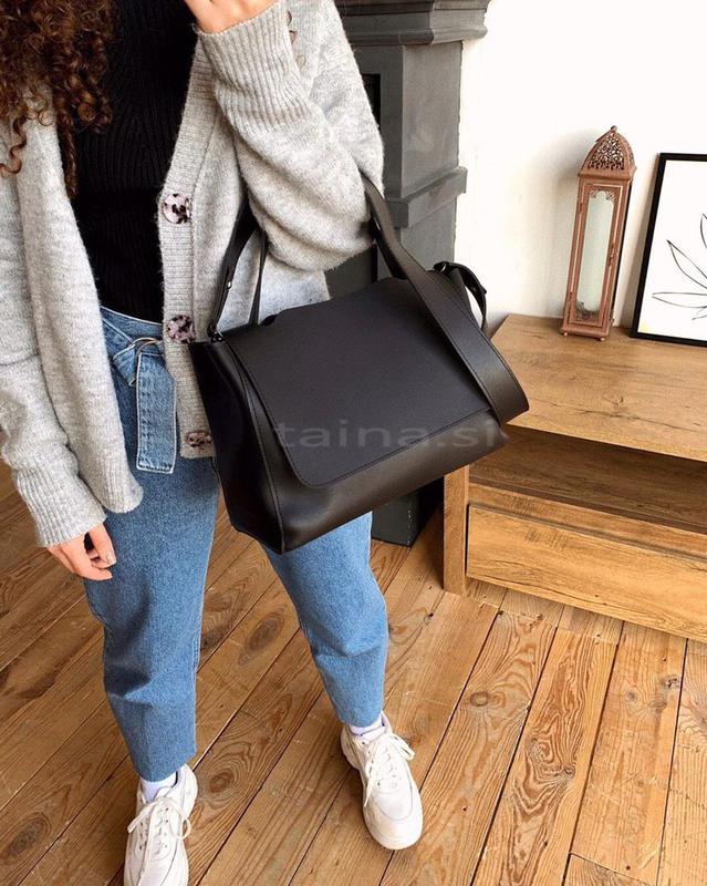 3 цвета! черная классическая сумка с широким ремешком