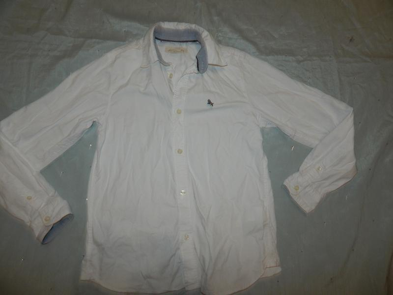 Рубашка белая модная на мальчика 11-12 лет l.o.g.g.