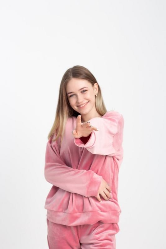 Домашний костюм розовый