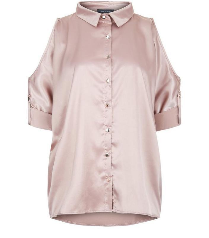 Рубашка открытые плечи оверсайз new look 8........размер