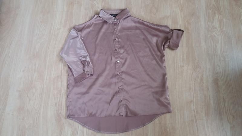 Рубашка открытые плечи оверсайз new look 8........размер - Фото 2