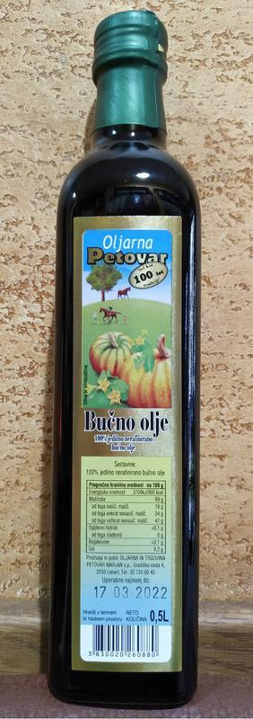 Масло тыквы 500 мл Словения Bucno olje 100% тыква Petovar Цинк