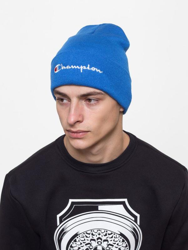 Зимняя шапка Champion синяя - Фото 4