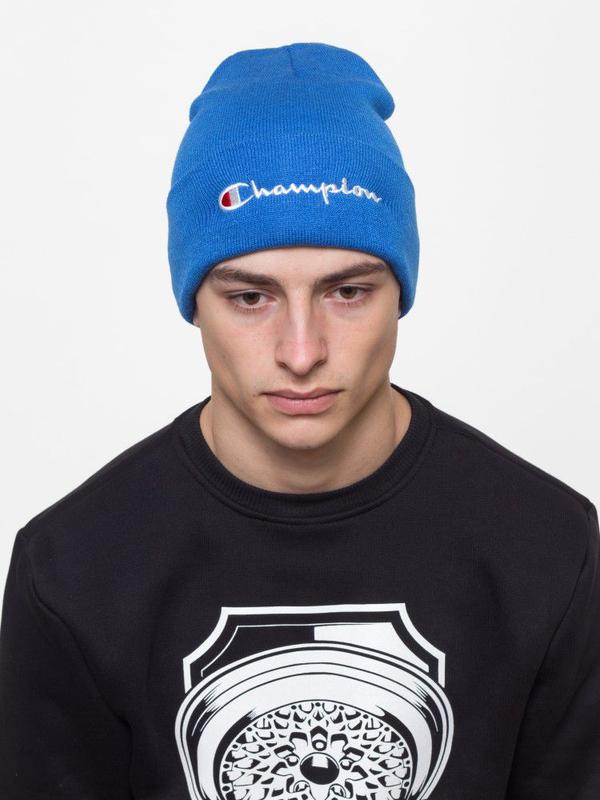Зимняя шапка Champion синяя - Фото 5