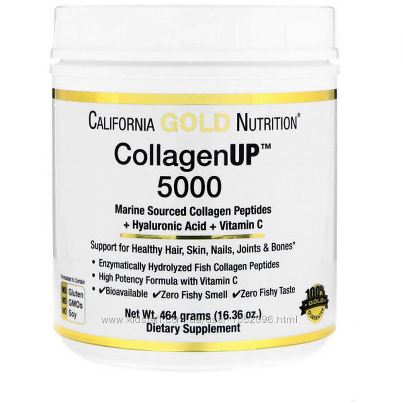 California Gold Nutrition, Морской коллаген UP 5000, 464 г
