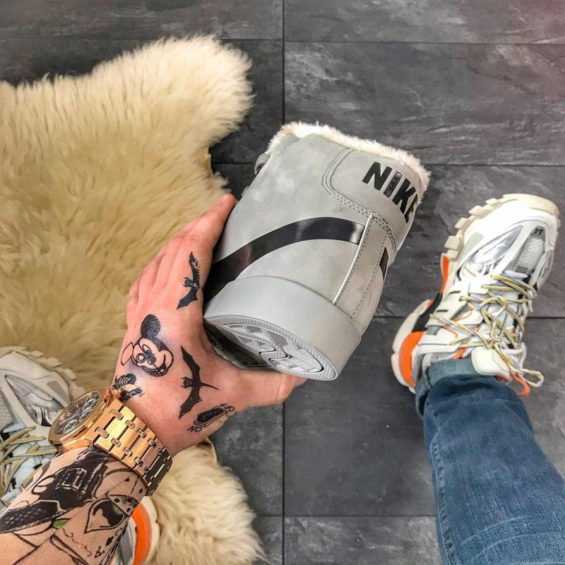 Шикарные мужские зимние кроссовки/ ботинки nike blazer mid gre... - Фото 4