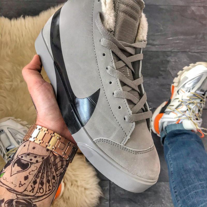 Шикарные мужские зимние кроссовки/ ботинки nike blazer mid gre... - Фото 6