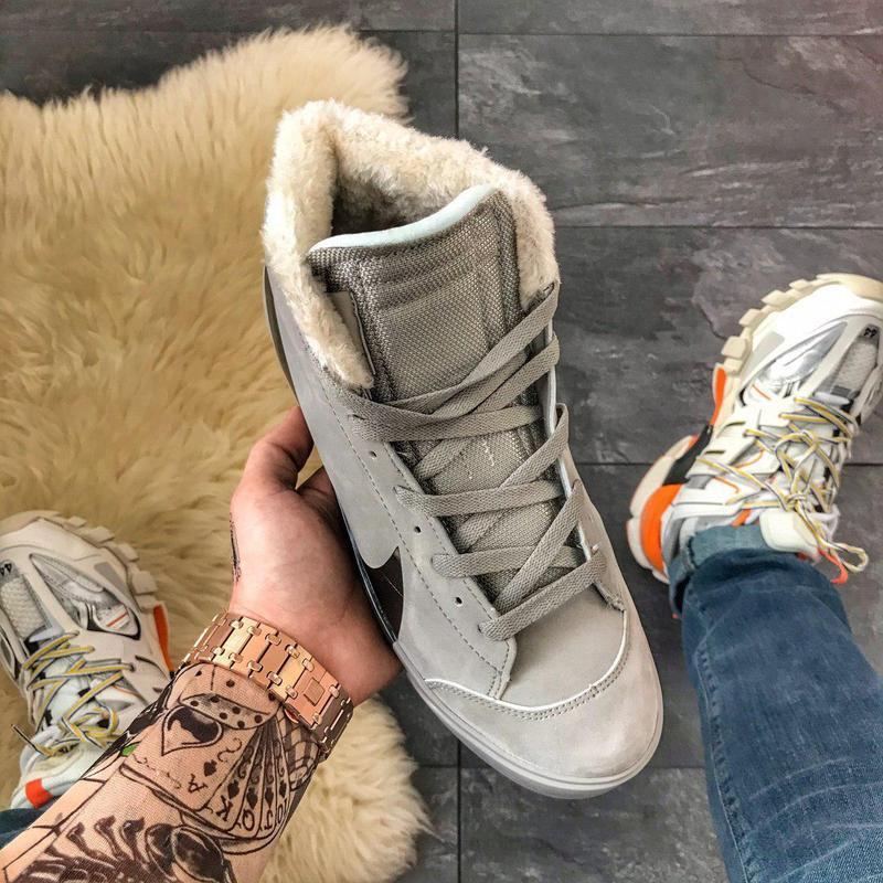 Шикарные мужские зимние кроссовки/ ботинки nike blazer mid gre... - Фото 7