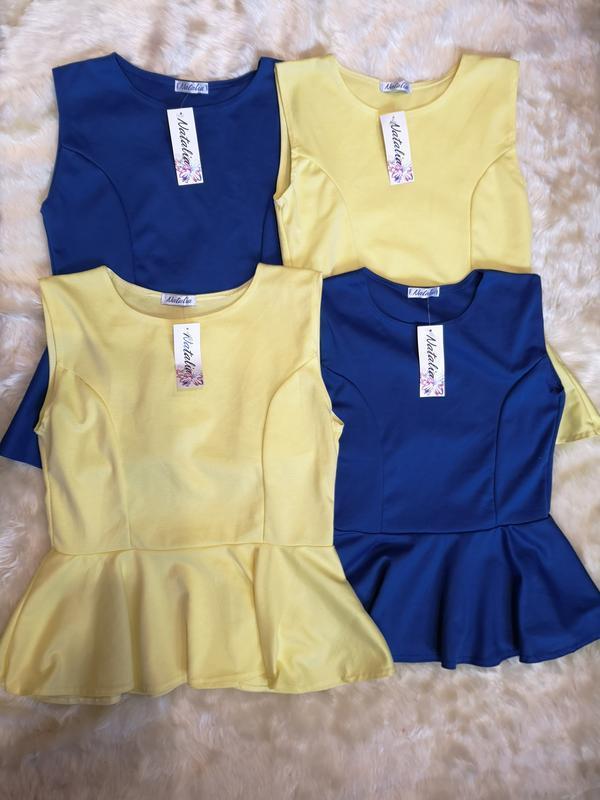 Новая блуза с баской размеры s-l смотрите замеры