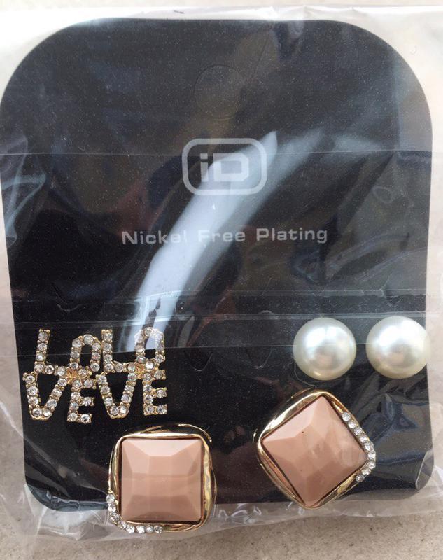 Сережки для подарунку) входить 6 пар) бижутерия прикраси, укра...