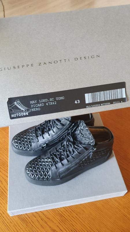 Ботинки, кеды брендовые giuseppe zanotti оригинал - Фото 4