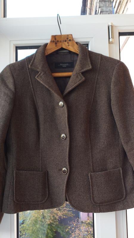 Тёплый  пиджак maxmara, 100% шерсть