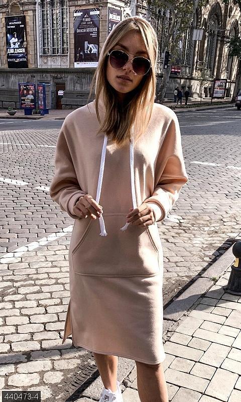 Платье -худи теплое платье разные цвета