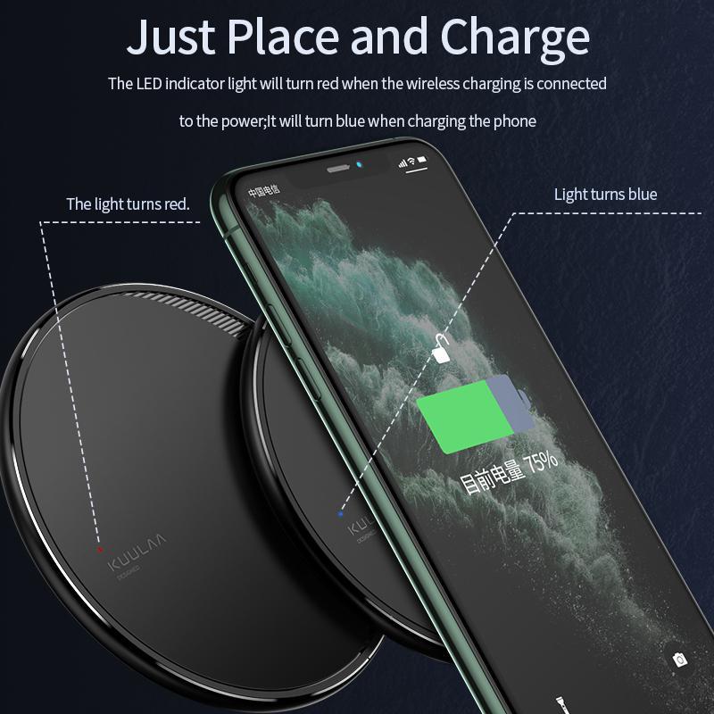 Бездротова зарядка Kuulaa QI Fast Charger 10W - Фото 3