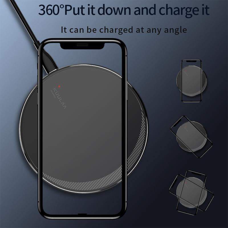 Бездротова зарядка Kuulaa QI Fast Charger 10W - Фото 4