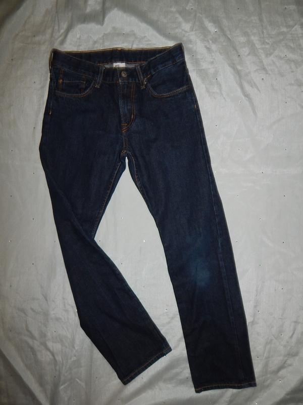Джинсы модные на мальчика 11-12 лет 152см плотные