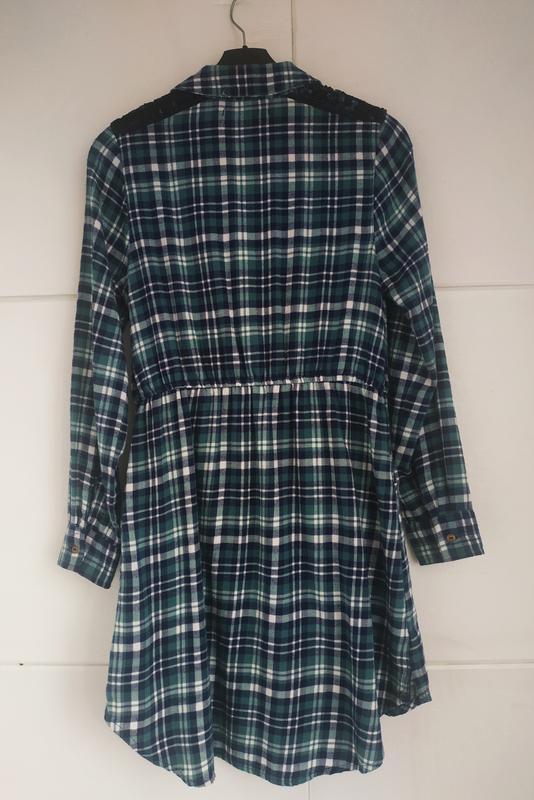 Платье-рубашка для девочки 11-12лет marks& spencer в клетку с ... - Фото 2