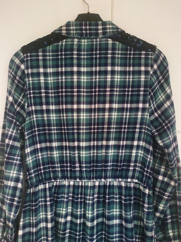 Платье-рубашка для девочки 11-12лет marks& spencer в клетку с ... - Фото 5