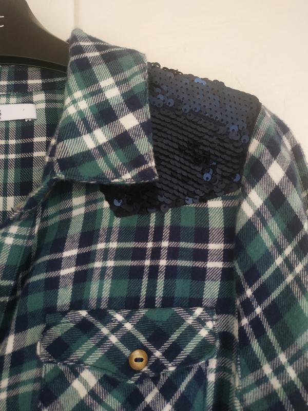 Платье-рубашка для девочки 11-12лет marks& spencer в клетку с ... - Фото 8