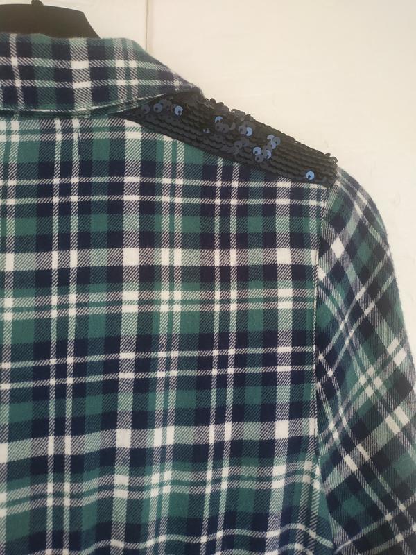 Платье-рубашка для девочки 11-12лет marks& spencer в клетку с ... - Фото 9