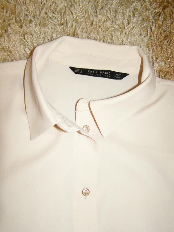 Рубашка zara с длинными рукавами - Фото 2