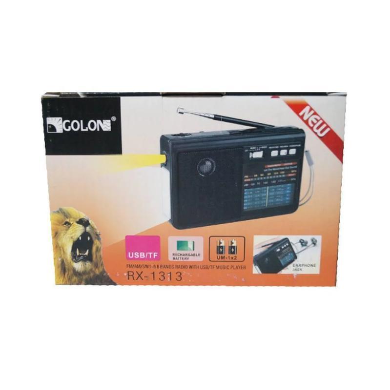 Радиоприёмник-колонка аккумуляторный Golon RX-1313 MP3 USB SD Чер