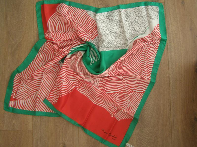 Шелковый платок pierre cardin, италия