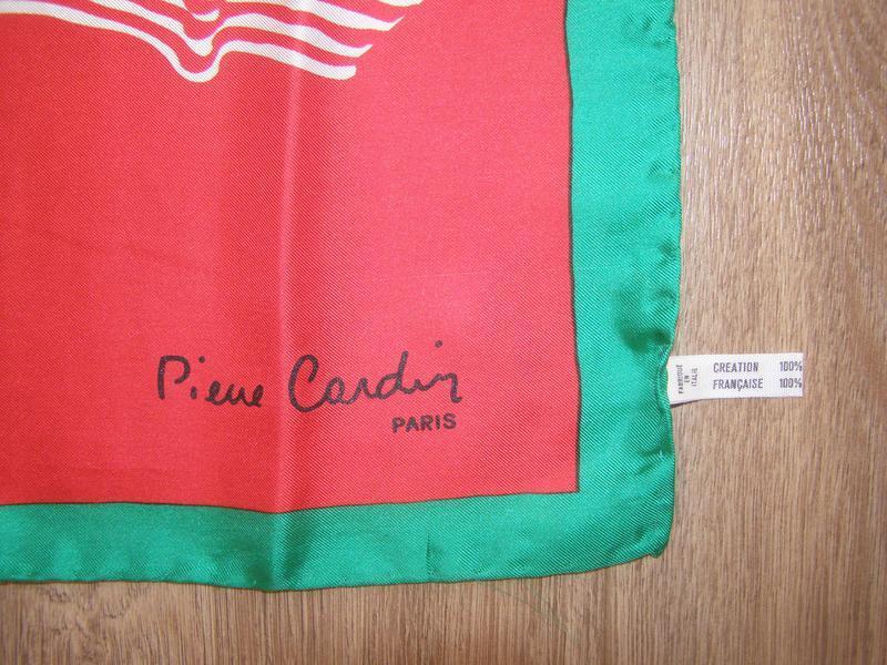 Шелковый платок pierre cardin, италия - Фото 3
