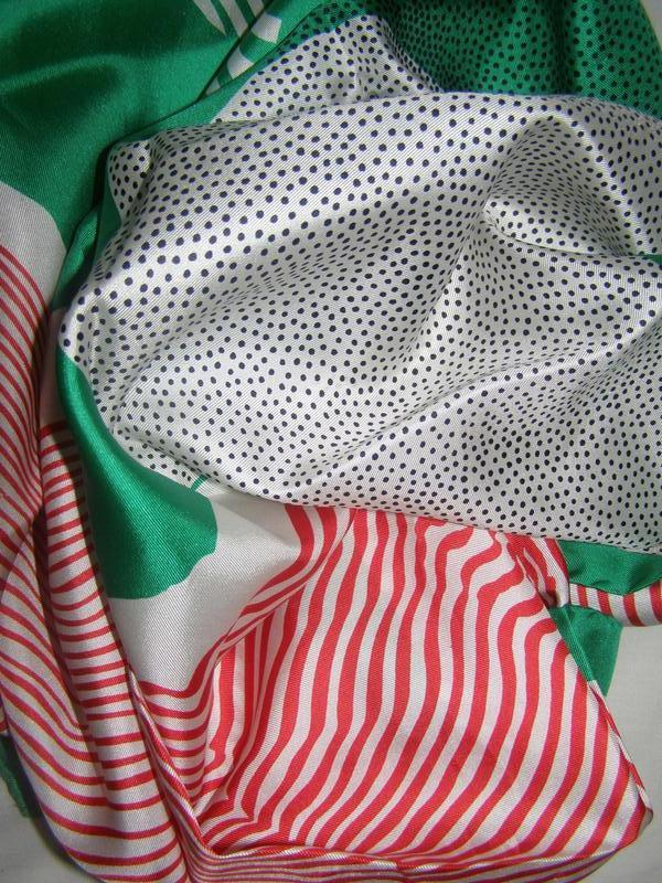Шелковый платок pierre cardin, италия - Фото 6