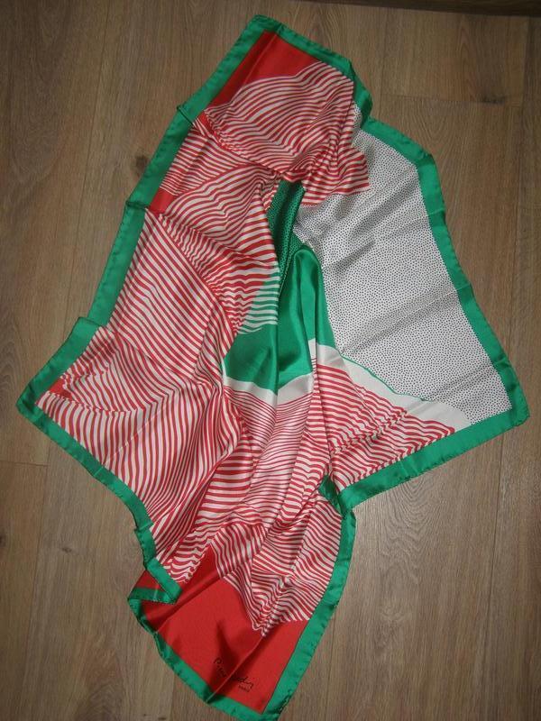 Шелковый платок pierre cardin, италия - Фото 8