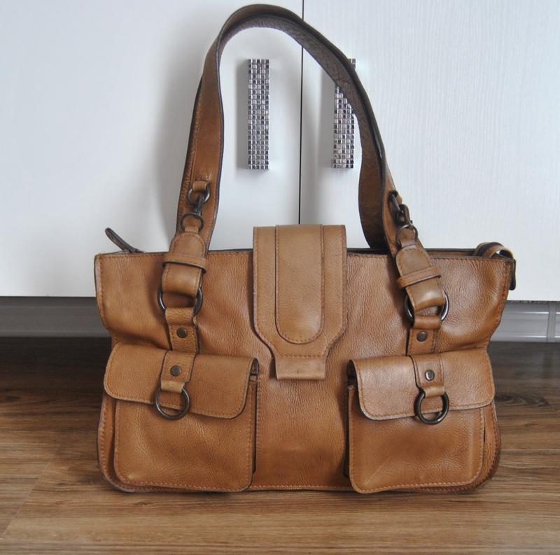 Кожаная сумка hidesign / шкіряна сумка