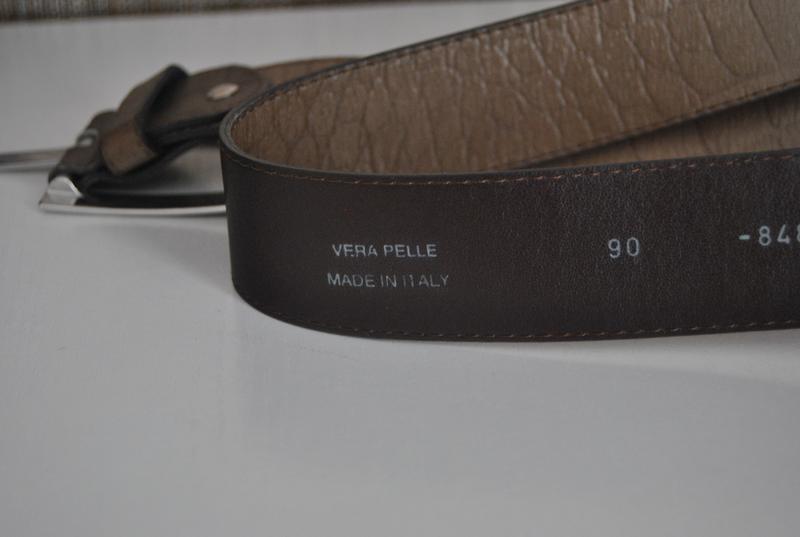 Кожаный ремень италия/ шкіряний ремінь - Фото 3
