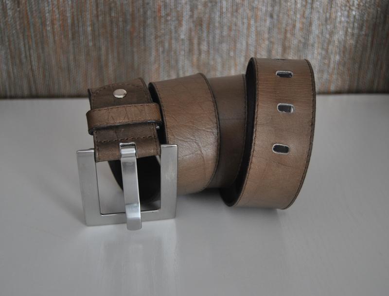 Кожаный ремень италия/ шкіряний ремінь - Фото 8