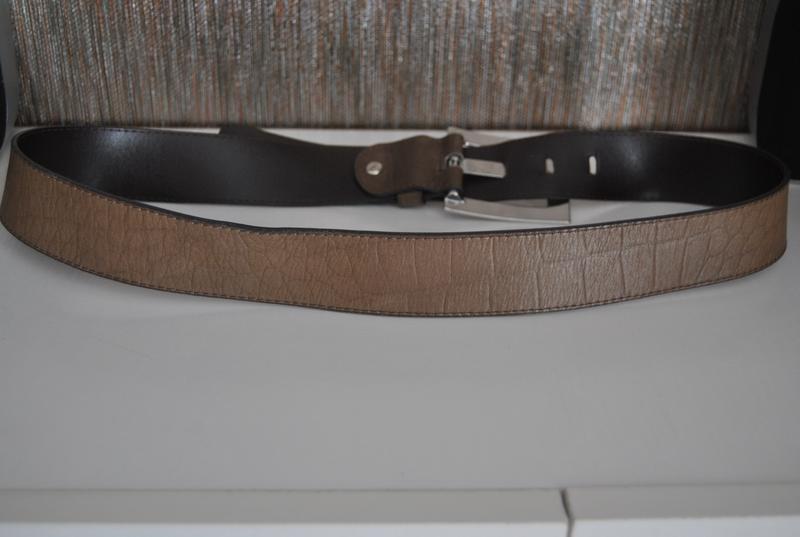 Кожаный ремень италия/ шкіряний ремінь - Фото 9