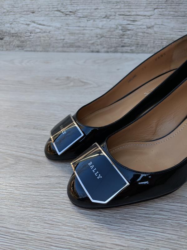 Bally кожание лакированые туфли 100% оригинал 100% натуральная...