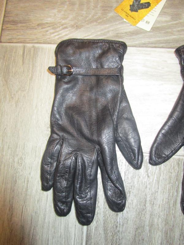 Кожаные перчатки - Фото 2