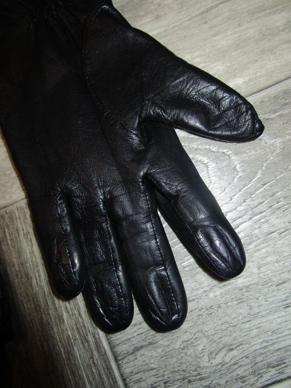 Кожаные перчатки - Фото 4