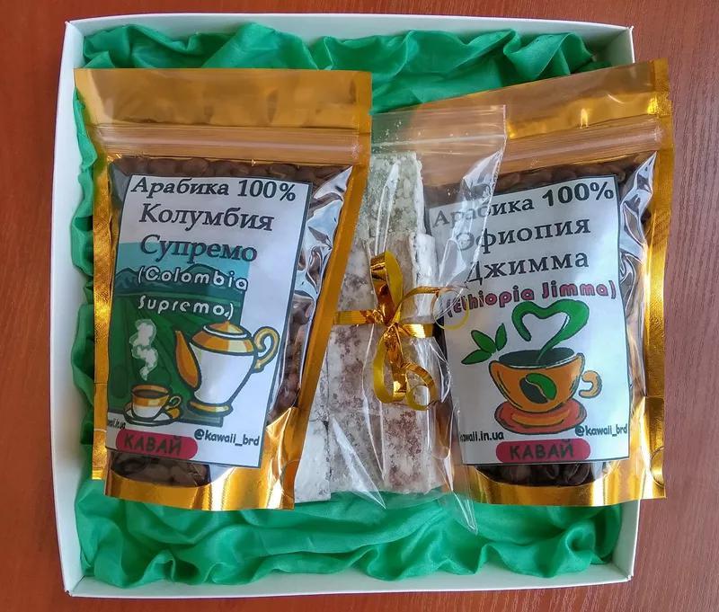 Подарочный набор натурального зернового кофе Арабика100% и лукума - Фото 4