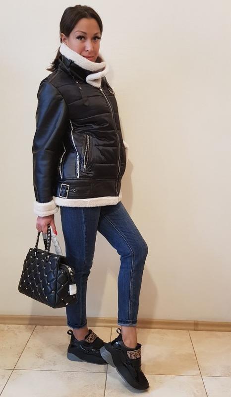 Куртка-авиатор отделка мехом